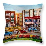 J Slawner Ltd Cote Des Neiges Throw Pillow