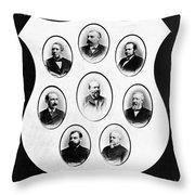 J.a. Garfield: Cabinet Throw Pillow