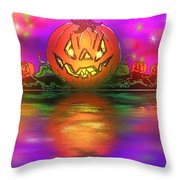 Jack And Friends By The Waters Edge Throw Pillow