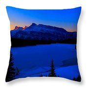Jack Frost Blues Throw Pillow