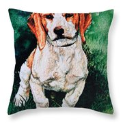 Jack Russell Woogle Throw Pillow