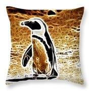 Jackass Penguin  Throw Pillow