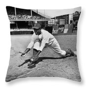 Jackie Robinson (1919-1972) Throw Pillow