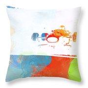 Jackie Stewart Throw Pillow by Naxart Studio
