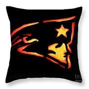 Jacko Lantern Patriots Throw Pillow
