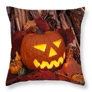 Jack's Grim Grin - Fm000065 Throw Pillow