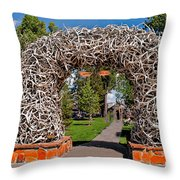 Jackson Hole Throw Pillow by Robert Bales
