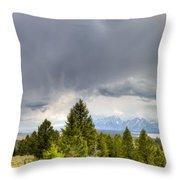 Jackson Hole Thunderstorms Throw Pillow