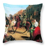 Jackson In Winchester, 1862 Throw Pillow