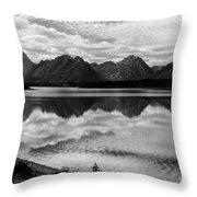 Jackson Lake Wyoming Throw Pillow