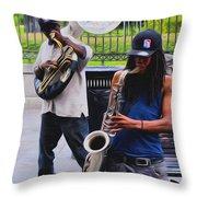 Jackson Square Jazz Throw Pillow