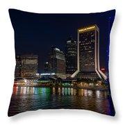 Jacksonville Florida Riverfront Throw Pillow