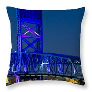 Jacksonville Skyline Throw Pillow