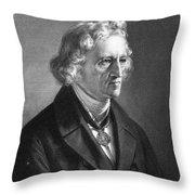 Jacob Grimm (1785-1863) Throw Pillow