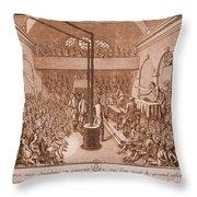 Jacobin Club Meeting Throw Pillow