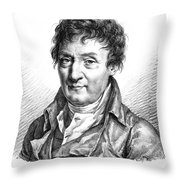 Jacques Charles, French Balloonist Throw Pillow