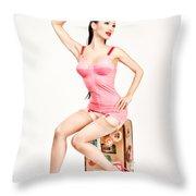 Jade Vixen Bubblegum 1076 Throw Pillow