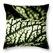 Jagged Leaf Throw Pillow