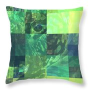 Jaguar Graph Geo Green Throw Pillow