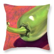 Jalapeno Pepper Throw Pillow