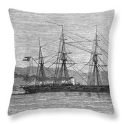 Jamaica: Css Alabama, 1863 Throw Pillow