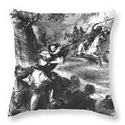 James Bowie (1796-1836) Throw Pillow