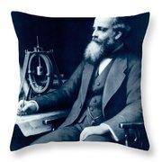 James Clerk Maxwell, Scottish Physicist Throw Pillow