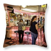 James Dean Hanging Out Throw Pillow