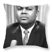 James Farmer (1920-1999) Throw Pillow