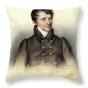 James Fenimore Cooper Throw Pillow