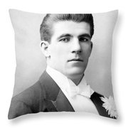 James J. Corbett Throw Pillow