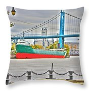 James M Schoonmaker And The Hi-level Bridge Throw Pillow