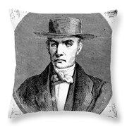 James Mott (1788-1868) Throw Pillow