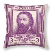James Russell Lowell Throw Pillow