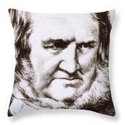 James Young Simpson, Scottish Physician Throw Pillow by Science Source