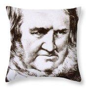 James Young Simpson, Scottish Physician Throw Pillow