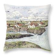 Jamestown Settlement, 1622 Throw Pillow