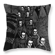 Jane Eyre Throw Pillow by Granger