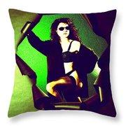 Jane Joker 2 Throw Pillow