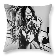 Janis In Black And White Throw Pillow