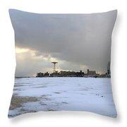 January - Coney Island Throw Pillow