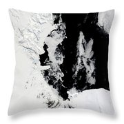 January 18, 2010 - Ross Sea, Antarctica Throw Pillow by Stocktrek Images