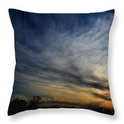 January Sunset 2012 Throw Pillow