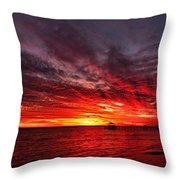 January Sunset Throw Pillow