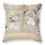 Japan: Childbirth, 1329 Throw Pillow
