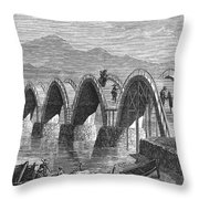 Japan: Iwakuni Bridge Throw Pillow