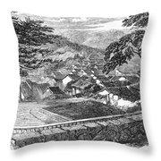 Japan: Nagasaki, 1858 Throw Pillow