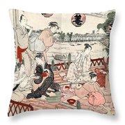 Japan: Restaurant, C1786 Throw Pillow
