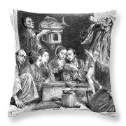 Japan: Sake, 1869 Throw Pillow