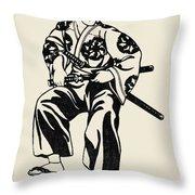 Japan: Samurai Throw Pillow